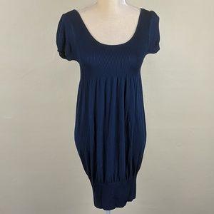 Le Beau Apparer Lightweight Knit Navy Mini Dress